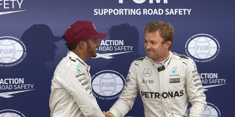 """Despite recent quotes from Lewis Hamilton hinting at reconciliation, Nico Rosberg says his relationship with his Mercedes teammate is """"up and down."""""""