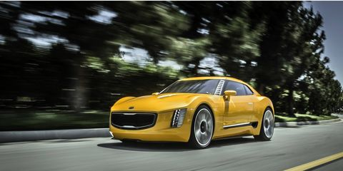 """The Kia GT4 Stinger concept may or may not be built. We're hoping for """"will be built."""""""
