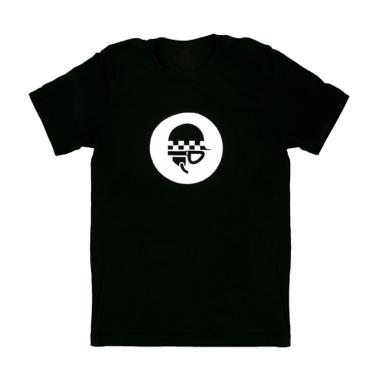T-shirt, Clothing, Black, Top, Sleeve, Font, Shirt, Active shirt, Symbol, Logo,