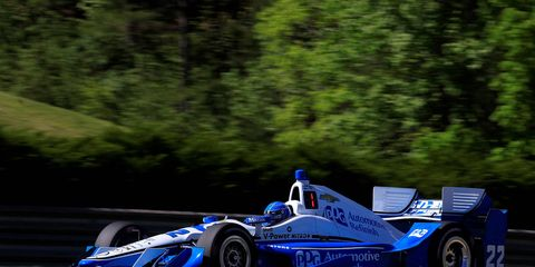 Simon Pagenaud posted the top qualifying speed at 124.089 mph on Saturday.