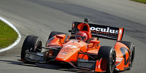 Simon Pagenaud is hoping to cut into Will Power's Verizon IndyCar Series points lead on Sunday at Milwaukee.
