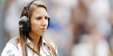 Simona de Silvestro in Monte Carlo, Monaco, for the Monaco Grand Prix.