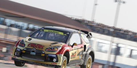 Petter Solberg, shown racing in the World Rally Championship, helped Team Nordic win the Race of Champions Nations Cup on Saturday. He was teamed with Tom Kristensen.