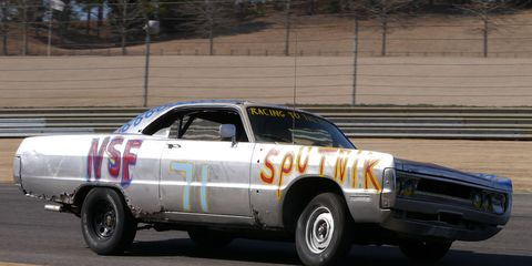 The Team Sputnik Plymouth Fury looked and sounded quite dramatic at the Southern Discomfort 24 Hours of LeMons. Imagine a whole track full of such cars!