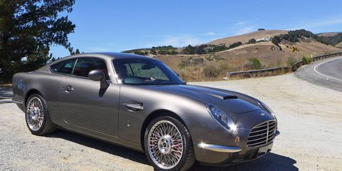 The David Brown Automotive Speedback GT combines classic grand tourer looks with a modern Jaguar powertrain. Here's what it's like to drive this hand-built luxury coupe -- and talk with its creator.