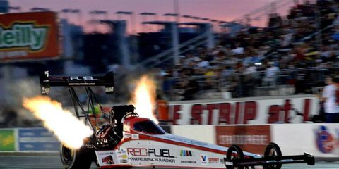 Spencer Massey notched his first Top Fuel victory Sunday night in Florida.