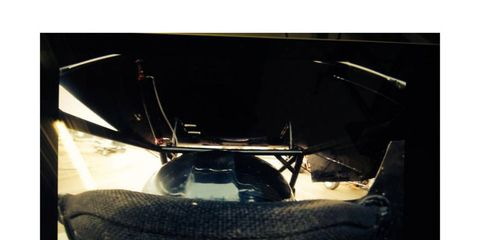 A photo provided by Twitter user and sprint car driver Calab Armstrong shows the driver's view from the inside of a sprint car.