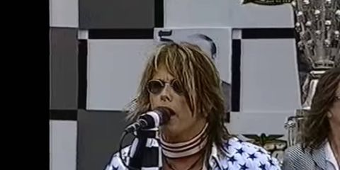Steven Tyler was lambasted for making some last-minute changes to the National Anthem in 2001.