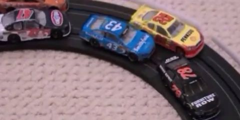 Check out this video of a stop-motion NASCAR race using die-cast cars.