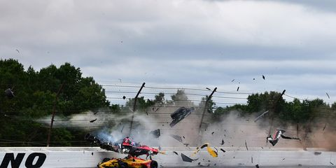 Robert Wickens' crash forced a nearly two-hour red flag.