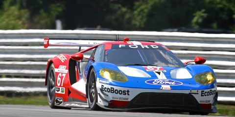 Richard Westbrook put the No. 67 Ford GT on the GT Le Mans pole for today's IMSA WeatherTech SportsCar Championship race at Lime Rock Park.