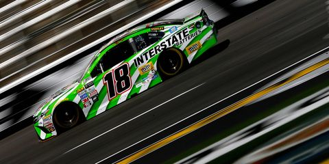 Kyle Busch spun with 42 minutes left in the first practice Friday.