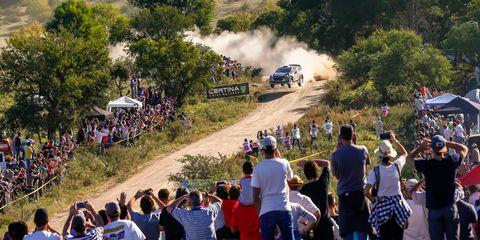 Ott Tänak thrills the rally crowds in Italy.