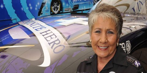 Terry Chandler has turned part of her own good fortune into racing sponsorships for a pair of Don Schumacher Racing Funny Cars. She also uses the sponsorships to promote two of her favorite charities.