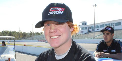 Thad Moffitt is the 16-year-old grandson of NASCAR legend Richard Petty.