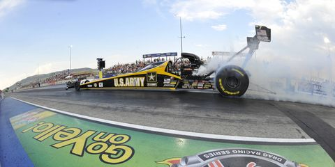 Tony Schumacher's No. 1 qualifying spot in Top Fuel on Saturday night was the 73rd of his NHRA career.