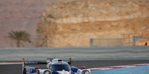 The #7 Toyota Racing TS040 Hybrid in Bahrain.