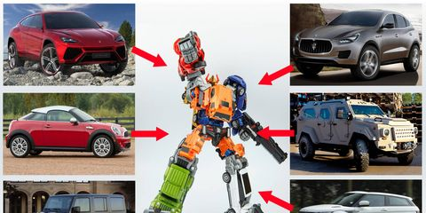 Finally, all of our favorite cars join forces to create one really big robot.