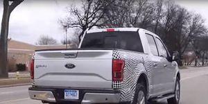 Ford F-150 diesel prototype spy shot