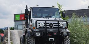 The Unimog is nearly 10 feet tall -- and the only off-road machine fit for Mr. Universe.