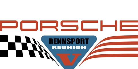 The Rennsport Reunion V logo builds on logos of the past.