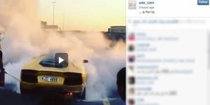 We spotted this Lamborghini fire on Instagram on Friday.