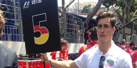 Male models replaced grid girls this year at Monaco.