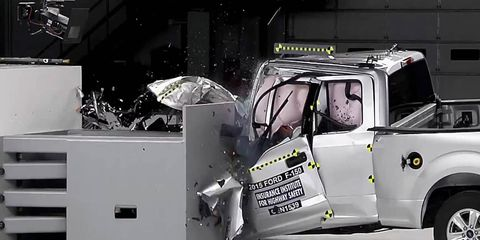 The Supercrew did better than this Supercab in Ford F-150 crash tests