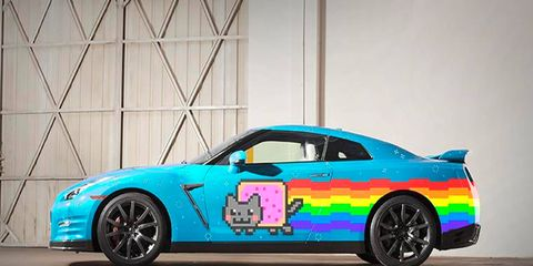 Nissan offered Deadmau5 a Nyan Cat GT-R; unfortunately it was just a Photoshop job.