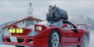 You can camp with a Ferrari F40; watch how it's done.
