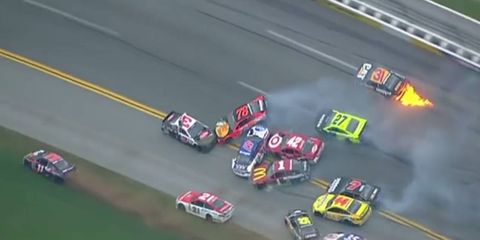 """Sunday's version of """"The Big One"""" at Talladega collected 21 cars in the NASCAR Sprint Cup Series race."""