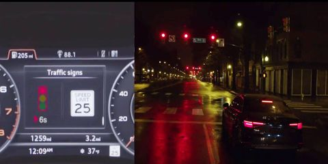 The Audi Traffic light system will end the countdown before the light goes green