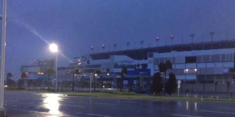 Daytona International Speedway weathers Hurricane Matthew.