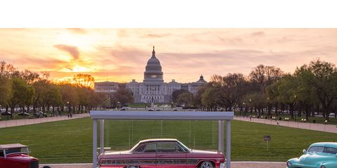The McGee Roadster, Gypsy Rose and the Hirohata Merc on the Mall in D.C.
