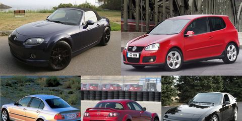 All of these track-day cars can be had for less than $10,000.