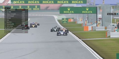 Qualifying races are off and running using the Codemasters gaming format.