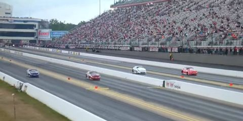 NHRA fans in Charlotte get twice the action at the Four-Wide Nationals.