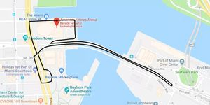 A proposed street circuit for the 2019 F1 Miami Grand Prix, an event approved by city commissioners in Miami on Thursday.