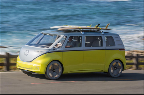 The VW ID Buzz will be the first Volkswagen to benefit from Nvidia's new Artificial Intelligence.