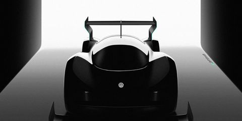 This is all we've seen of Volkswagen Motorsport's upcoming Pikes Peak contender so far.
