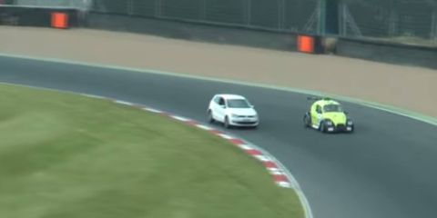 Jack Cottle, who drove his girlfriend's VW Polo on to a hot race track in June, has been sentenced to eight months in jail.