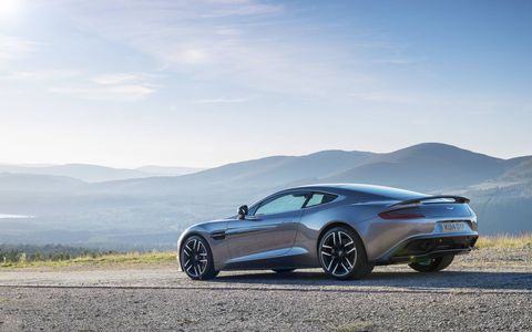 Fuel economy for the Vanquish has been boosted by seven percent.
