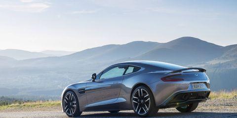 2015 Aston Martin Vanquish in Tungsten Silver.
