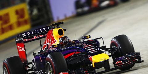 Red Bull Racing's Sebastian Vettel at the Singapore Grand Prix last Sunday.