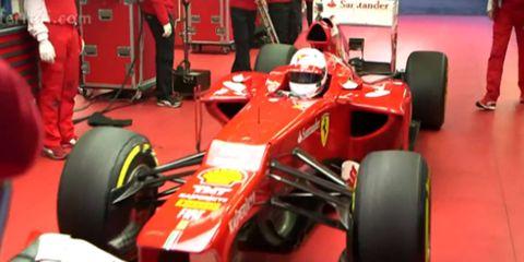 Sebastian Vettel spent three days on the job with his new Ferrari teammates.
