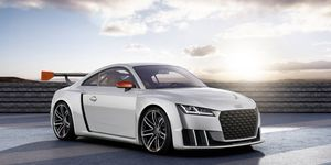 Audi has equipped the TT Clubsport Turbo concept with its new lag-free e-turbo.