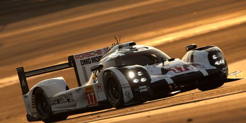 The Porsche team of Mark Webber, Timo Bernhard and Brendon Hartley won the World Endurance Championship title on Saturday.