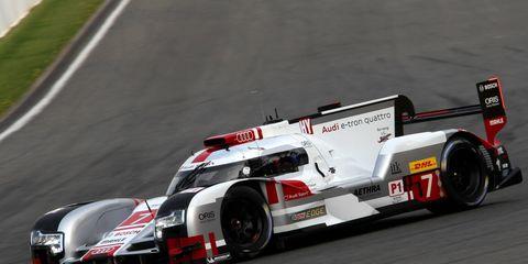 Audi scored a 13-second victory over Porsche on Saturday in Belgium.