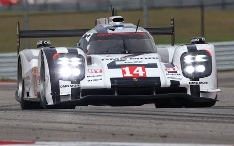 Neel Jani drove the No. 14 Porsche 919 Hybrid into the lead for a short time in Austin.