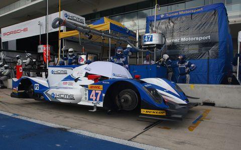 The winning LMP2 ORECA-Nissan 03R was driven by Richard Bradley, Matt Howson and Tsugio Matsuda.